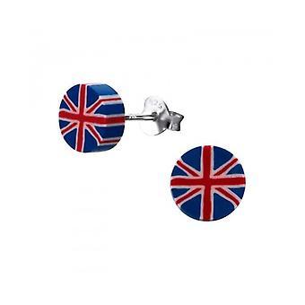 Union Jack use Union Jack plata y plástico zarcillos - pendientes