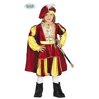 conto de fadas medieval traje de festa do tema do Carnaval de príncipe para crianças