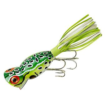 Arbogast Hula Popper 5/8 oz Fishing Lure - Leopard Frog