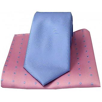 David Van Hagen Ribbed solmio ja Polka Dot nenäliina Set - / purppura