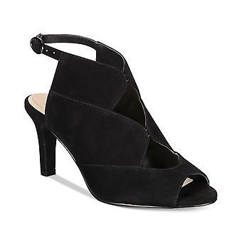 Alfani Kadın Nayaah Deri Peep Toe Casual Slingback Sandalet