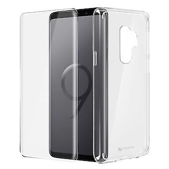 Back case + Screen Protector Tempered Glass Clear Galaxy S9 Plus - 4smarts