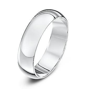 Star Wedding Rings 18ct White Gold Heavy D 5mm Wedding Ring
