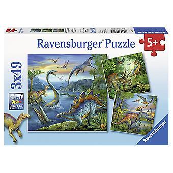Dinosaures Ravensburger Puzzles 3 x 49 3 pièces