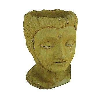 Designer Stone Harvest Yellow Jaipur Queen Head Concrete Planter