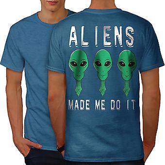 Aliens Mystery Funy Men Royal BlueT-shirt Back | Wellcoda
