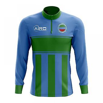 Dagestanin käsite jalkapallo puoli Lämmin Powerstretch-paita vetoketjukauluksella (sininen-vihreä)