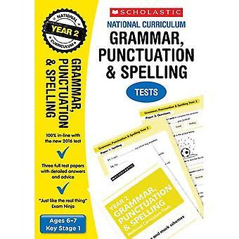 Grammatik, interpunktion och stavning Test - år 2 (läroplanen tester)