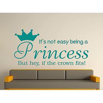 Être une princesse Wall Art autocollants - Aqua Vert