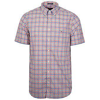 GANT Coral Check Short-Sleeve Shirt