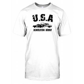 USA Demolition Derby męskie T Shirt