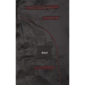Dobell Mens schwarz 2 Stück Smoking passen regelmäßige Kerbe Revers