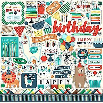 Echo Park Paper Happy Birthday Boy 12x12 Inch Element Stickers (HBB141014)