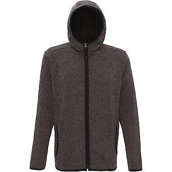 Outdoor Look Mens Melange Hooded Knit Fleece Full Zip Jacket