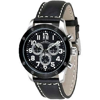 Zeno-watch mens watch of screws 5040 chronograph 9540Q-SBK-b1
