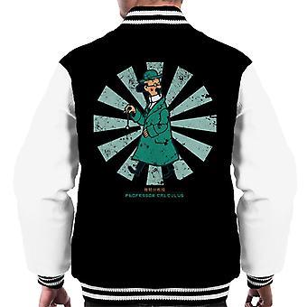 Professor Calculus Retro Japanese Tintin Men's Varsity Jacket