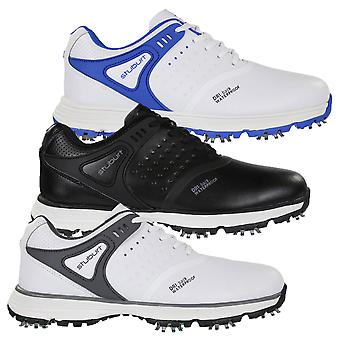Stuburt Mens Evolve Tour Leather Waterproof Spiked Golf Shoes