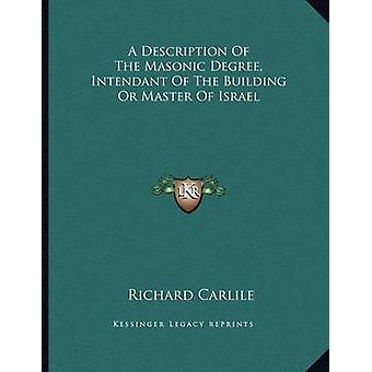 A Description of the Masonic Degree - Intendant of the Building or Ma