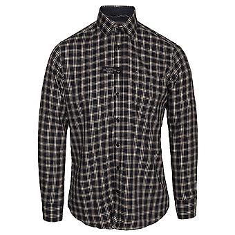 Hackett multi guarnição Soft check camisa de manga comprida