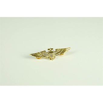 Bnov Aviator Pin Metal / Gold Colour