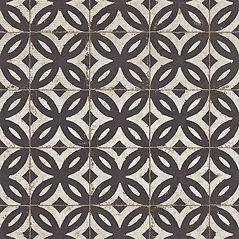 Rasch efeito falso telha padrão wallpaper realista vintage abstract floral Motif 524710