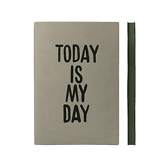 Daycraft A5 Signature Inspiro Notebook, Fine Italian PU, 176 Pages, W151 x H212 mm, Ash Grey