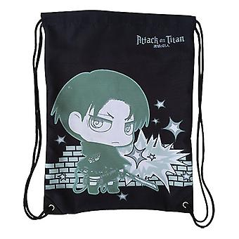 String Backpack - Attack on Titan - New SD Levi Draw Sling Bag Anime ge11624