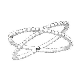 Cross - 925 Sterling Silver Plain Rings - W23771X