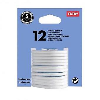 Tatay verho renkaat valkoinen 12 yksikköä X Läpipainopakkaus (DIY, laitteet)
