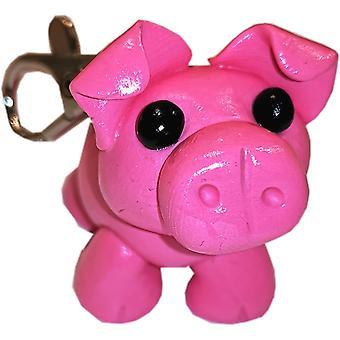 McKayKrafts polímero argila handmade Pig chaveiros