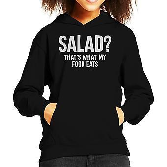 Carnivore Salad Thats What My Food Eats Kid's Hooded Sweatshirt