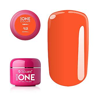 Base one-Neon-Coral 5g UV gel