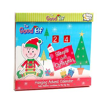 The Good Elf Wooden 'Sleeps Until Christmas' Countdown Hanging Advent Calender