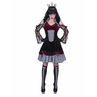 Gothic Hexe Dunkle Lady Damenkostüm Halloween Karneval Kostüm Damen Ghiya Kleid