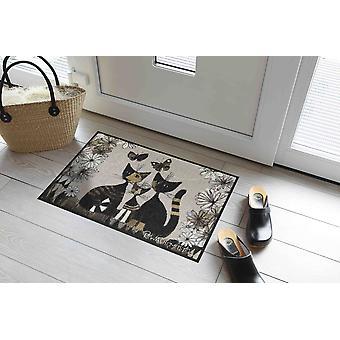 Rosina Watchmaster Doormat Gatti con Fiori Washable