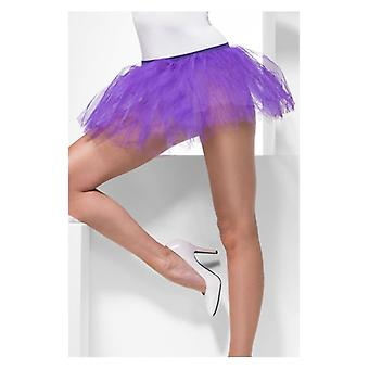 Womens paars Tutu onderjurk Fancy Dress accessoire