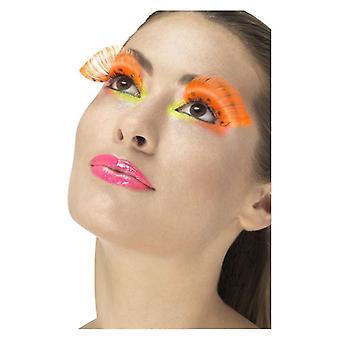 80 s Polka Dot cils, Neon Orange, contient des accessoires de déguisements de colle