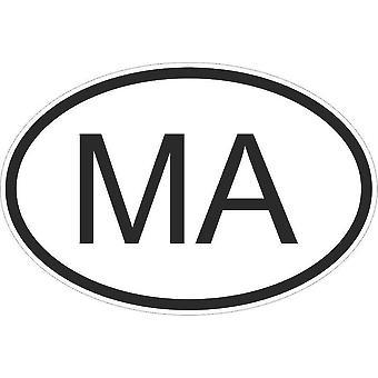 Sticker Sticker Sticker Sticker Flag Oval Code Country Motorcycle Morocco Moroccan Ma
