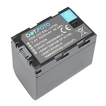 Dot.Foto JVC SSL-JVC50 Replacement Battery - 7.4v / 5200mAh