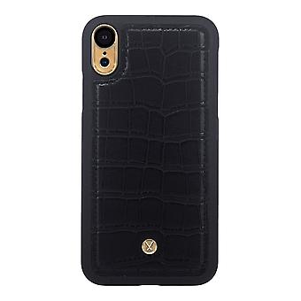 Marvêlle iPhone XR Magnetic Case Black Crocodile Trend