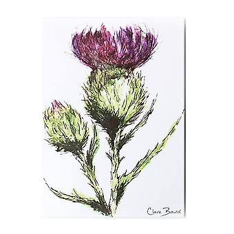 Clare Baird Highland Collection - Thistle/Flower of Scotland Magnet