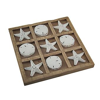Starfish and Sand Dollar 9 inch Tic Tac Toe Game Board