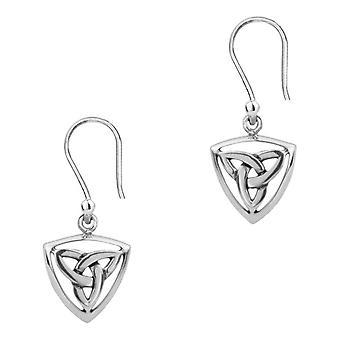 Celtic Holy Trinity Knot Drop Style Paire de Boucles d'oreilles 'apos;Tara'apos;