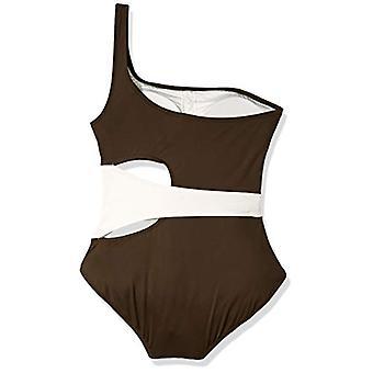 Vince Camuto kvinnor ' s axel One Piece baddräkt med sida, brun, storlek 4,0