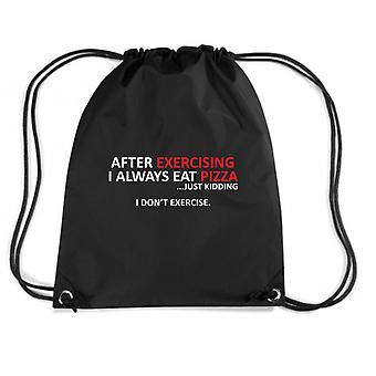 Zainetto nero trk0705 exercise pizza