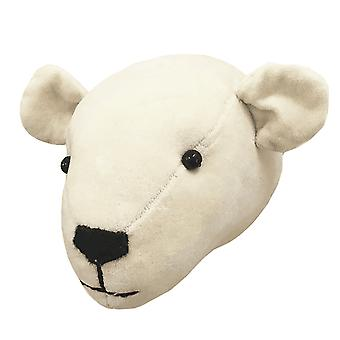 Fiona Walker England Polar Bear Mini Velvet Animal Head, Wall Mounted