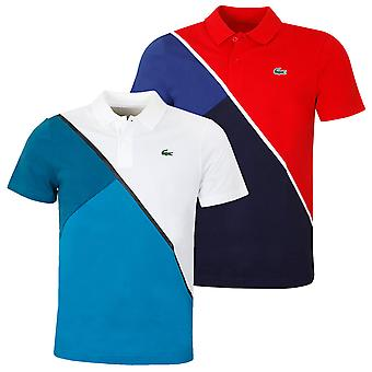 Lacoste Mens Short Sleeve Ribbed Collar Stagione Polo Camicia