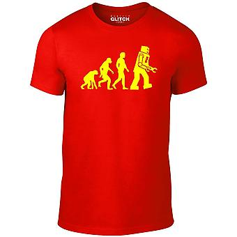 Men's evolution of robots t-shirt