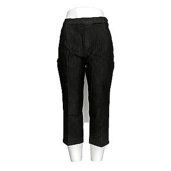Isaac Mizrahi Live! Kvinder ' s Petite jeans 365 stretch denim sort A254302