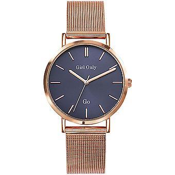 Go Girl alleen 695905 - stalen horloge goud roze vrouw